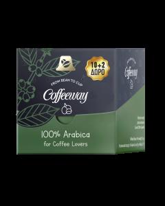 Coffeeway Κάψουλες Espresso Arabica 10+2 τεμ. (κιβ.12x12τεμ)