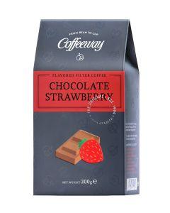 Coffeeway Αρωματικός Φίλτρου Chocolate Strawberry 200g  (κιβ.12x200gr)