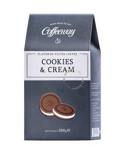 Coffeeway Αρωματικός Φίλτρου Cookies & Cream 200g  (κιβ.12x200gr)